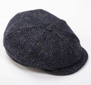 Tweed Cap 8 Piece Navy Herringbone