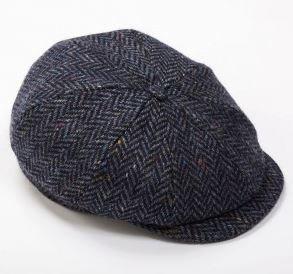 Tweed Cap 8 Piece Navy Herringbone
