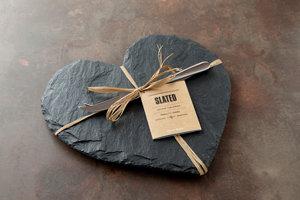 Heart Shaped Cheese Board - Slate