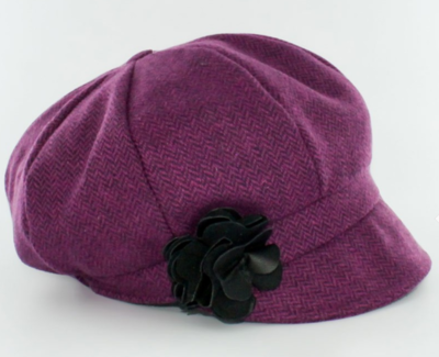 Newsboy Cap - Lilac Herringbone