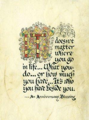 Anniversary Blessing Framed Print