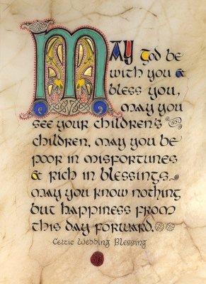 Irish Wedding Blessing Framed Print