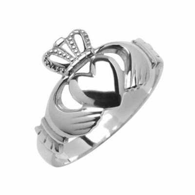 Gents Claddagh Ring - Sterling Silver