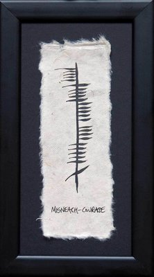 Ogham Plaque - Courage - Misneach