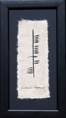 Ogham Plaque - Family