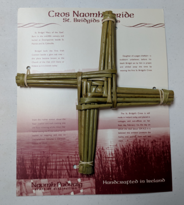 Handmade Saint Brigid's Cross - Medium