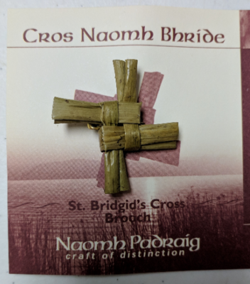 Handmade Saint Brigid's Cross Pin