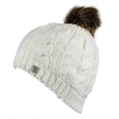 Olann White Bobble Hat