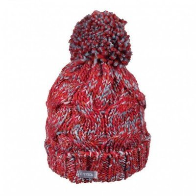 Olann Pink and Blue Fleck Bobble Hat