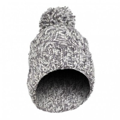 Olann Grey Bobble Hat