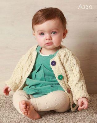 Baby's Aran Cardigan