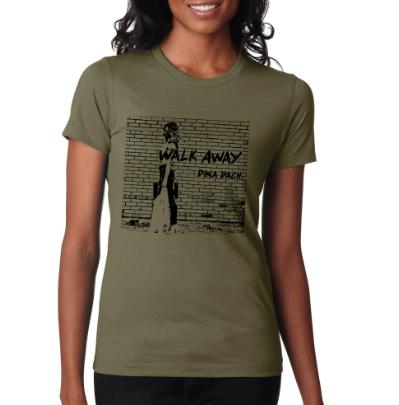 """Walk Away"" Women's T-Shirt (Military Green)"