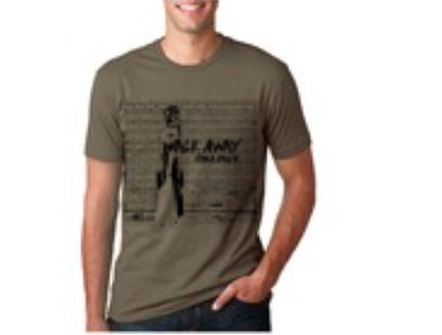 """Walk Away"" Men's T-Shirt (Military Green)"