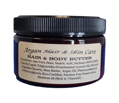 ARGAN HAIR & BODY BUTTER 4OZ