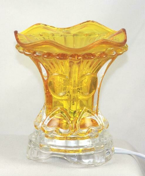 AMBER HEART ELECTRIC AROMATHERAPY FRAGRANCE OIL BURNER