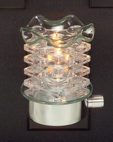 CLEAR TOWER WALL PLUG IN OIL BURNER