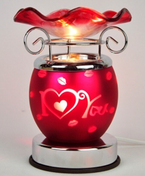 LOVE WITH HEARTS ELECTRIC TOUCH OIL BURNER