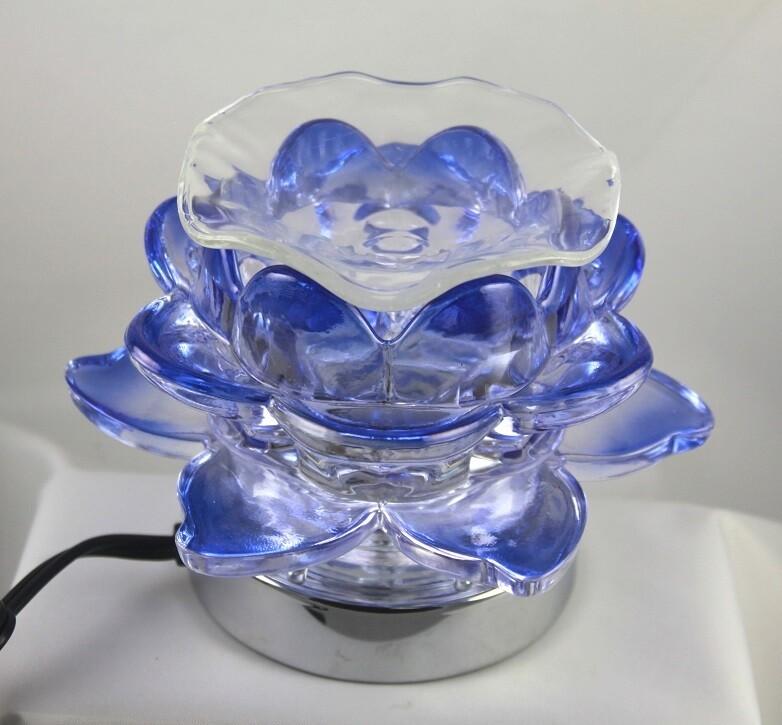 LOTUS FLOWER BLUE ELICTRIC OIL BURNER