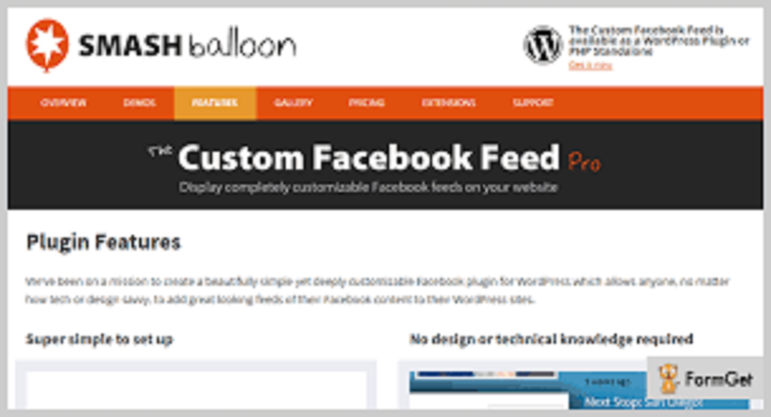 The Custom Facebook Feed Pro Feed WordPress Plugin