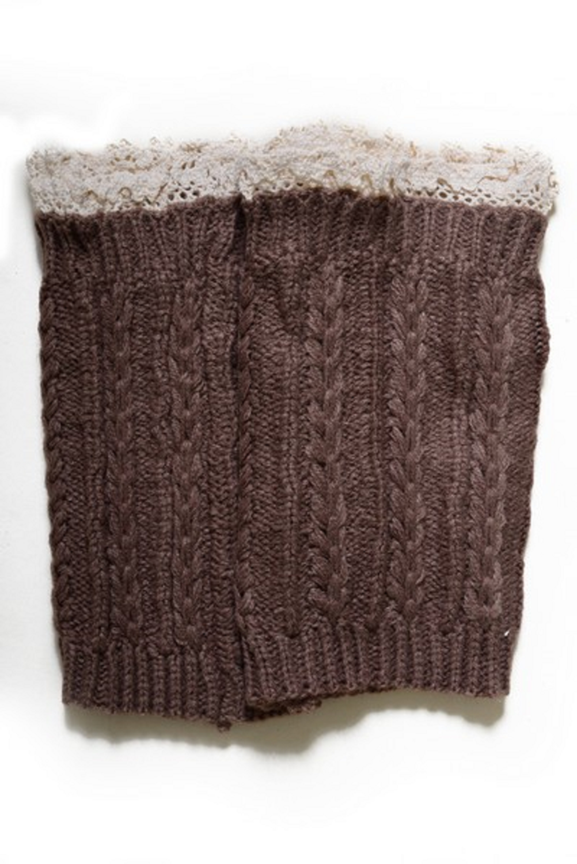 Lady's Fashion Designed Leg Warmer-Khaki