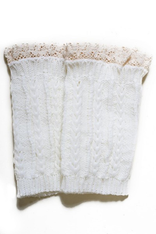 Lady's Fashion Designed Leg Warmer-White