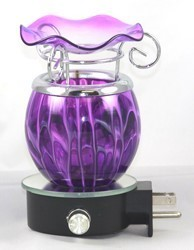 PURPLE DESIGN WALL PLUG IN OIL BURNER