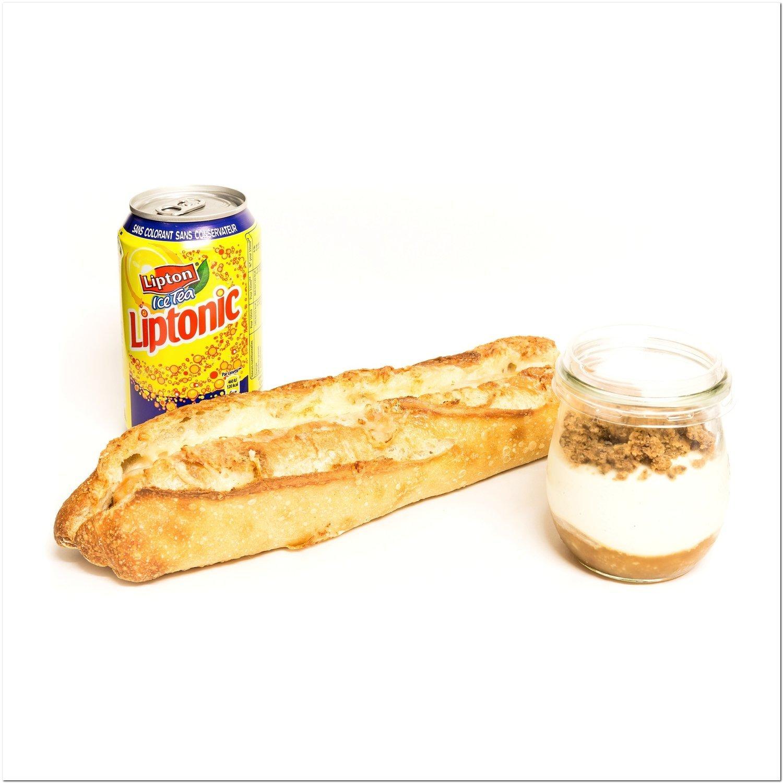 Formule plaisir (sandwich + boisson + p'tit pot ou pâtisserie aux fruits frais)