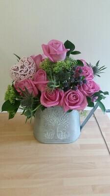 Vintage Rose watering can design