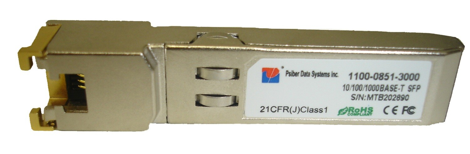 10/100/1000 BASE-T SFP with RJ-45 Interface