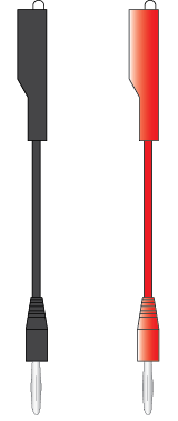 Banana Plug to Alligator Clips Adapter (Black and Red)