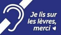 Autocollant « Je lis sur les lèvres » pour téléphone cellulaire