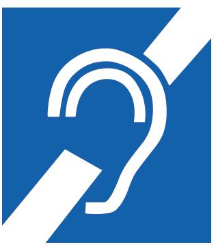 Pictogramme autocollant de l'oreille barrée (2 exemplaires)