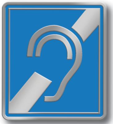 Épinglettes en métal de l'oreille barrée