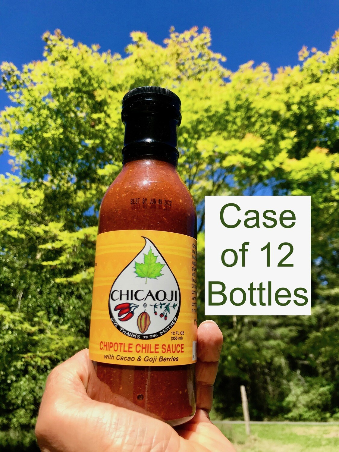 Case of 12 oz Maple Chicaoji. 12 bottles per case ~ Flat Rate Shipping $12.
