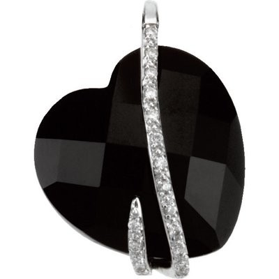 Black Onyx & Diamond Necklace