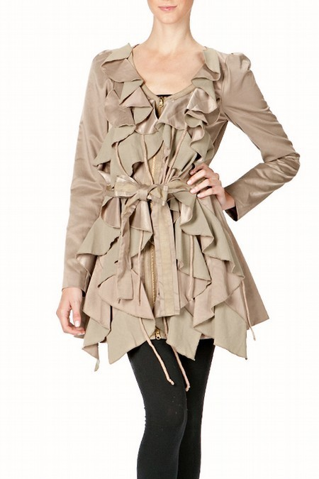 Vintage Inspired Rustle Fabric Coat