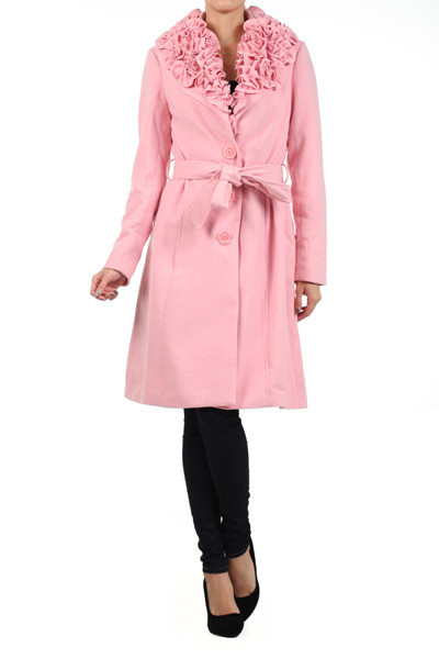 Vintage Inspired - Ruffle Collar Coat