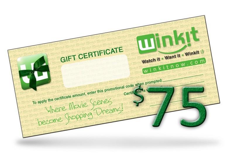$75 WinkIt Gift Certificate