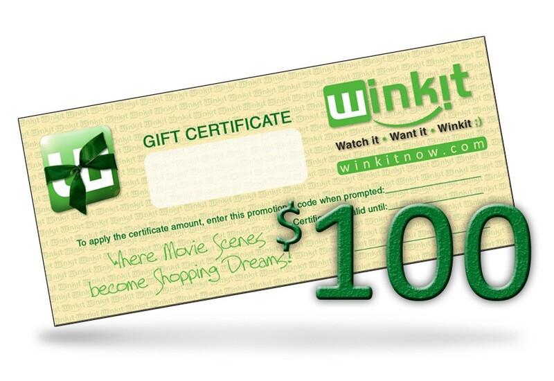$100 WinkIt Gift Certificate