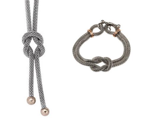 Stainless Steel Infinity Knot - Bracelet & Necklace Set