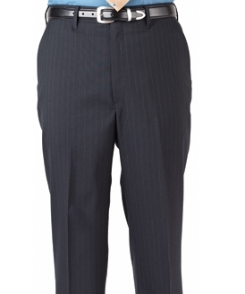 Men's Poly/Wool Pinstripe Suit Pant - sold as a set