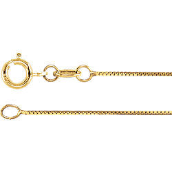 18K Gold .55MM Box Chain 18' Necklace