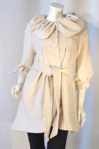 Scalloped Collar Coat
