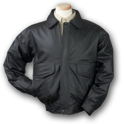 Men's Buffed Bomber Leather Jacket