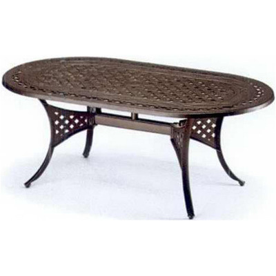 Outdoor Aluminum Oval Cast Dining Table (includes 4 chairs - see photo gallery)