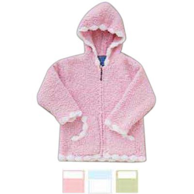 Children's Hooded Sweater with Scalloped Edge