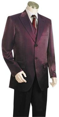 Men's Iridescent 3pc Suit