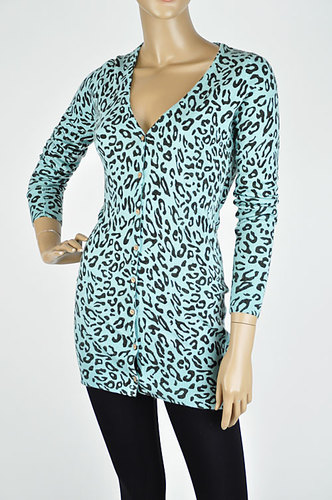 Leopard Print Long Sweater