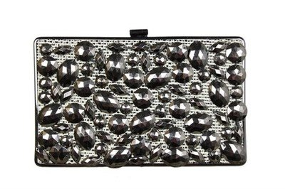 Satin & Metal Clutch