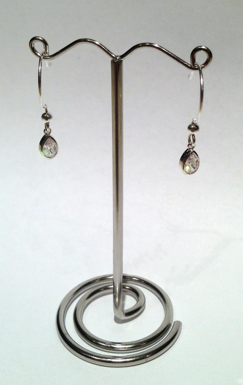 Silver Drop Swarovski Crystal Earring